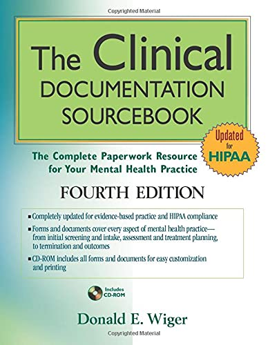 9780470527788: The Clinical Documentation Sourcebook: The Complete Paperwork Resource for Your Mental Health Practice