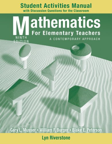 9780470531365: Student Activity Manual to accompany Mathematics for Elementary Teachers: A Contemporary Approach, 9e