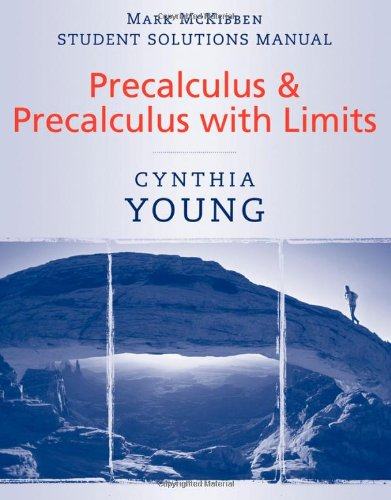 9780470532034: Student Solutions Manual to accompany Precalculus & Precalculus with Limits