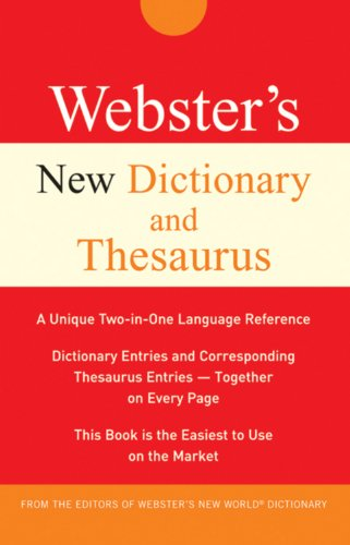 9780470532584: Webster's New Dictionary and Thesaurus (Custom)