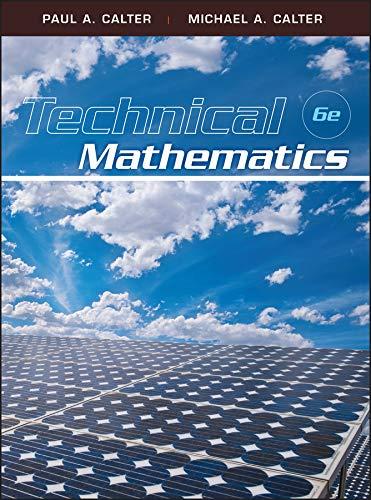 9780470534922: Technical Mathematics, 6th Edition