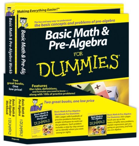 9780470537008: Basic Math and Pre-Algebra for Dummies Education Bundle [With Workbook]