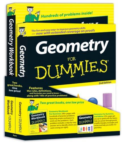 9780470537022: Geometry For Dummies® Education Bundle