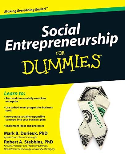 9780470538081: Social Entrepreneurship For Dummies