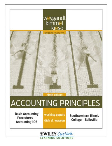 9780470539101: Accounting Principles 9th Edition Working Paper for SouthWestern Illinois College-Belleville