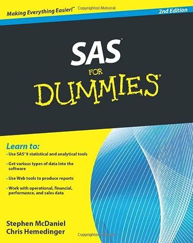 9780470539682: SAS for Dummies