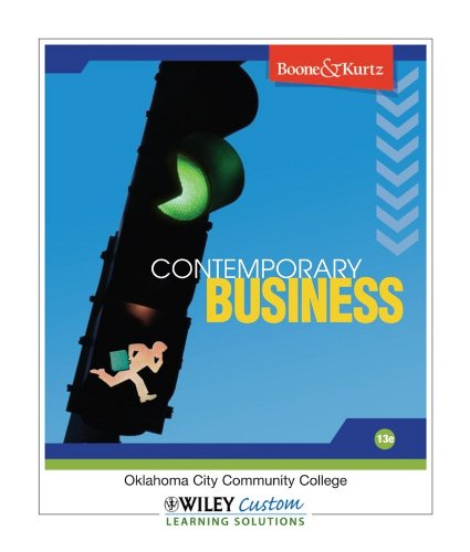 9780470543924: Contemporary Business (13th Edition, Oklahoma City Community College)