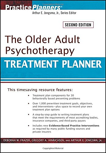 9780470551172: The Older Adult Psychotherapy Treatment Planner (PracticePlanners)
