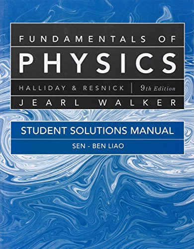Student Solutions Manual for Fundamentals of Physics: Halliday, David; Resnick,