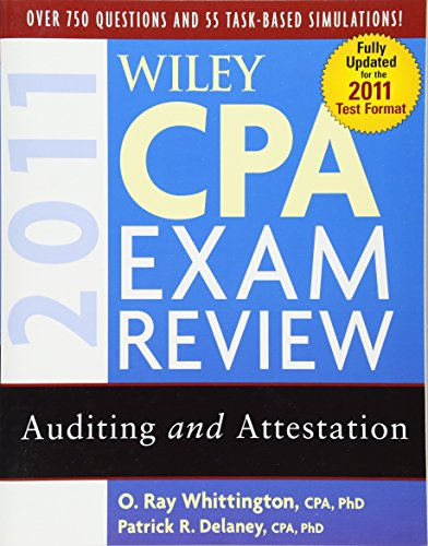 9780470554340: Wiley CPA Exam Review 2011, Auditing and