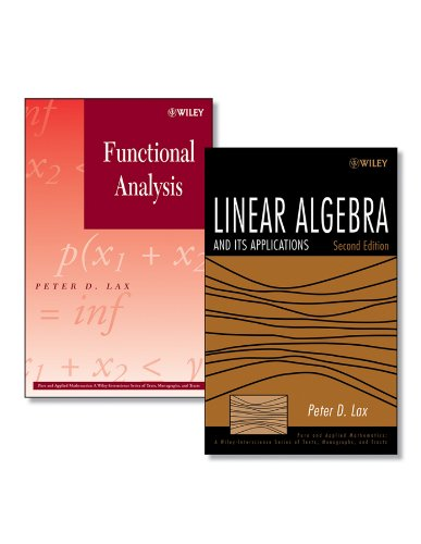9780470555545: Linear Algebra and Its Applications, Second Edition + Functional Analysis Set (Pure and Applied Mathematics: A Wiley Series of Texts, Monographs and Tracts)