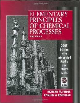 9780470556269: Elementary Principles of Chemical Processes