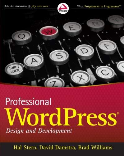 9780470560549: Professional WordPress: Design and Development