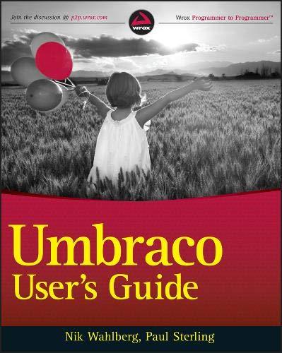 9780470560822: Umbraco User's Guide
