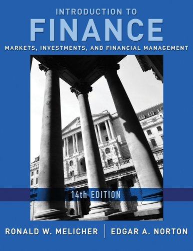 Introduction to Finance: Markets, Investments, and Financial: Melicher, Ronald W.;