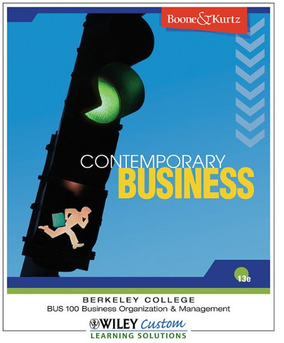 9780470562505: Contemporary Business (Berkeley College) 13th Edition Boone and Kurtz