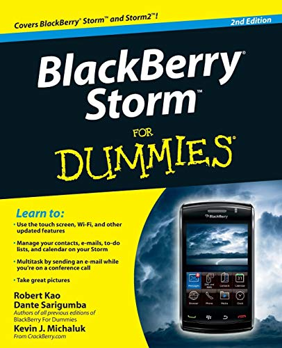 9780470565315: BlackBerry Storm For Dummies
