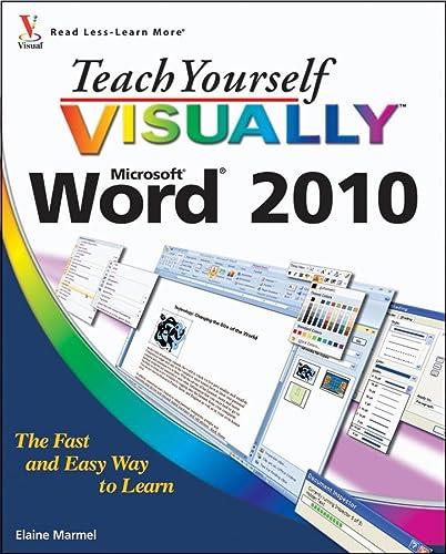 9780470566800: Teach Yourself VISUALLY Word 2010