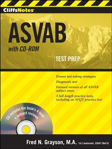 CliffsNotes ASVAB with CD-ROM (Cliffstestprep Asvab): Grayson, Fred N