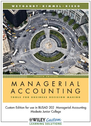 9780470569092: Managerial Accounting EWP 4th Edition for Modesto Junior College