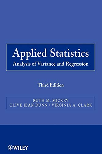 9780470571255: Applied Statistics: Analysis of Variance and Regression