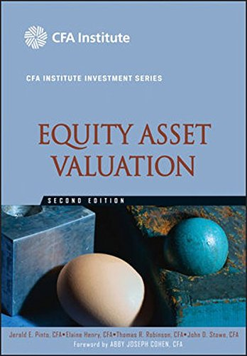 9780470571439: Equity Asset Valuation (CFA Institute Investment Series)