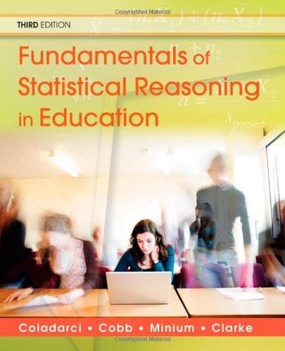 9780470574799: Fundamentals of Statistical Reasoning in Education