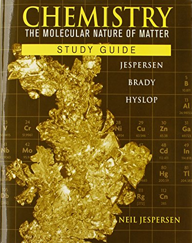 9780470577721: Chemistry, Study Guide: The Molecular Nature of Matter