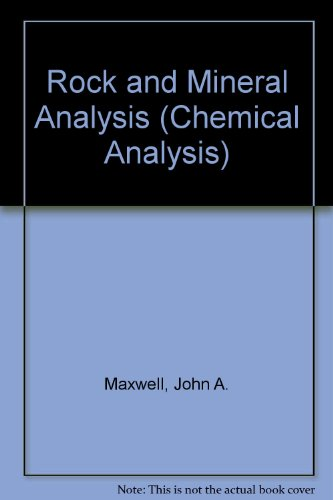 9780470579008: Rock and Mineral Analysis (Chemical Analysis)