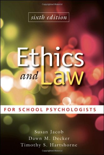 9780470579060: Ethics and Law for School Psychologists