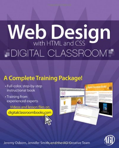 9780470583609: Web Design with HTML and CSS Digital Classroom, (Book and Video Training)