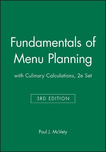 9780470583883: Fundamentals of Menu Planning 3E with Culinary Calculations 2E Set