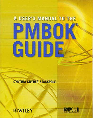 9780470584897: A User's Manual to the PMBOK Guide