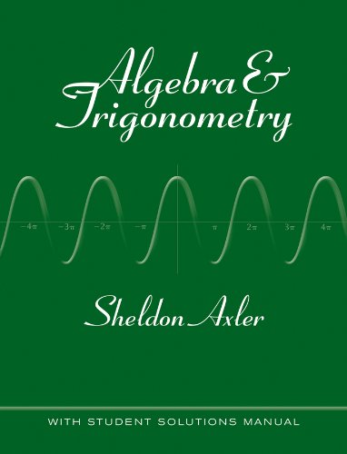 9780470585795: Algebra and Trigonometry