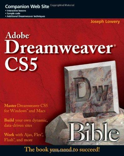9780470585863: Adobe Dreamweaver CS5 Bible