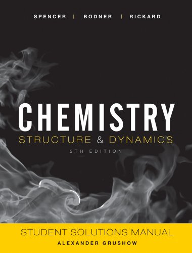 9780470587126: Chemistry, Student Solutions Manual: Structure and Dynamics