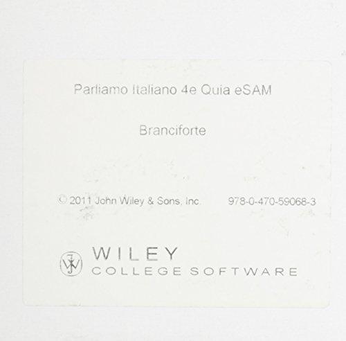 9780470590683: Parliamo Italiano!, Fourth Edition Quia eSAM Registration Card