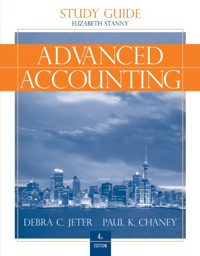 9780470590843: Advanced Accounting, Study Guide with Working Papers in Excel