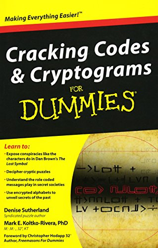 9780470591000: Cracking Codes and Cryptograms For Dummies