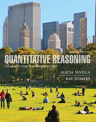 9780470592717: Quantitative Reasoning: Tools for Today's Informed Citizen