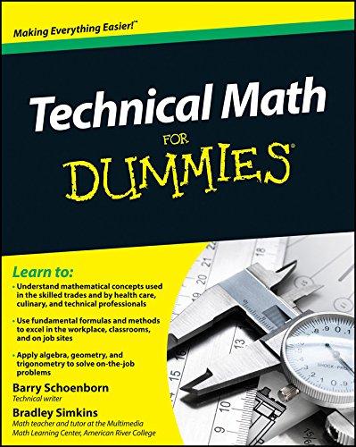 9780470598740: Technical Math For Dummies