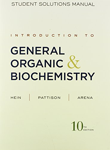 9780470598832: Introduction to General, Organic, and Biochemistry Student Solutions Manual