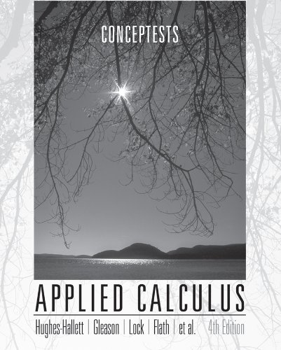9780470601914: Applied Calculus: ConcepTests