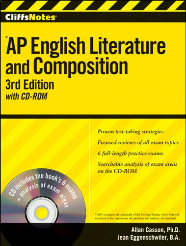 9780470607589: CliffsNotes AP English Literature and Composition with CD-ROM, 3rd Edition (Cliffs AP)