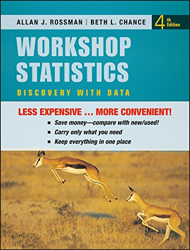 9780470607657: Workshop Statistics: Discovery with Data