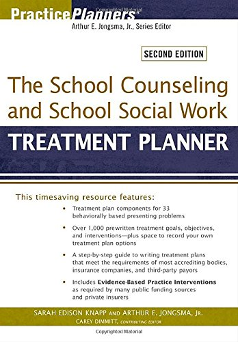 9780470618172: The School Counseling and School Social Work Treatment Planner