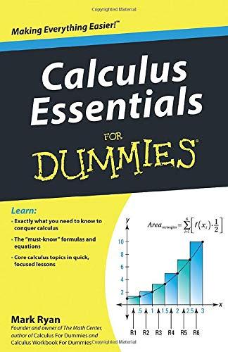 9780470618356: Calculus Essentials For Dummies