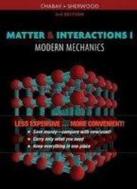 9780470619339: MATTER and INTERACTIONS, Modern Mechanics VOL.I (LOOSELEAF)