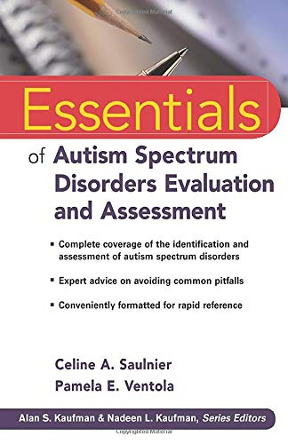 9780470621943: Essentials of Autism Spectrum Disorders Evaluation and Assessment