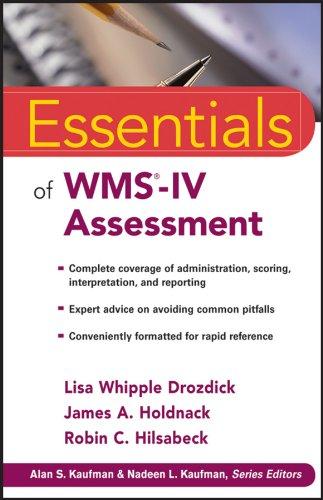 Essentials of WMS-IV Assessment Format: Paperback: Lisa W. Drozdick